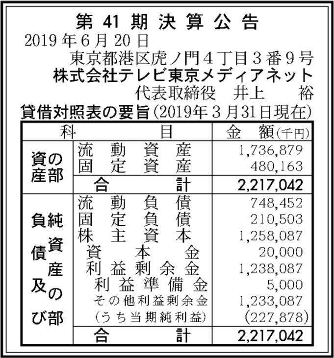株式会社テレビ東京メディアネッ...