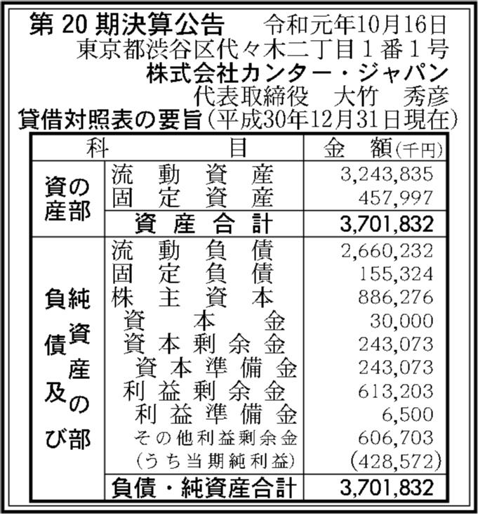 カンター ジャパン