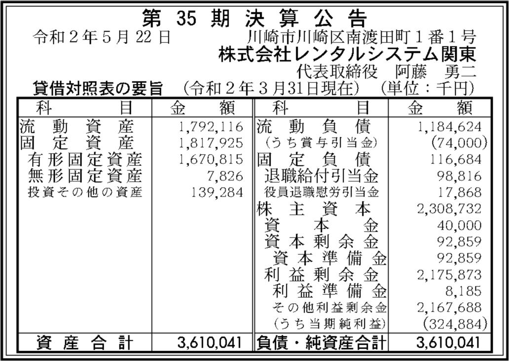 システム 関東 レンタル