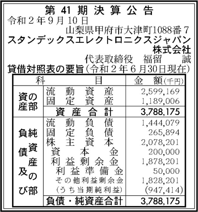 エレクトロニクス ジャパン デックス スタン