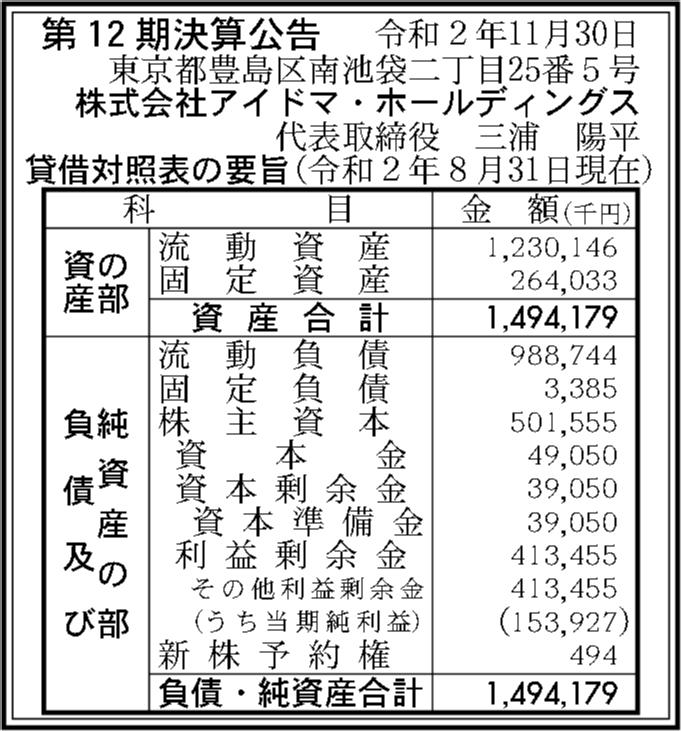 アイドマ ホールディングス 会社 株式