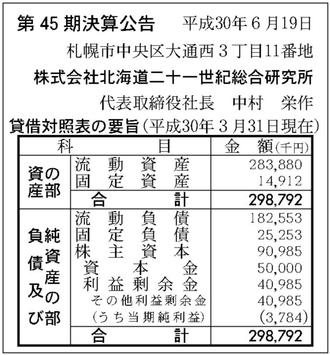 十 研究 総合 世紀 二 所 北海道 一