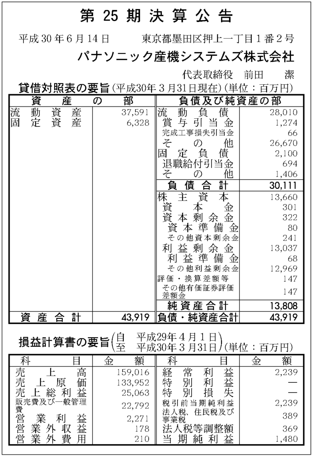 パナソニック 産 機 システムズ 株式 会社