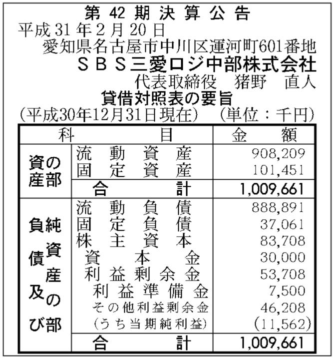 Sbs 三愛 ロジスティクス 株式 会社